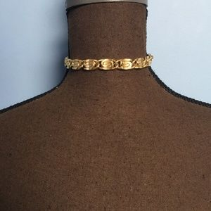 3/$30 Gold-Tone Greek Key Link Chain Choker